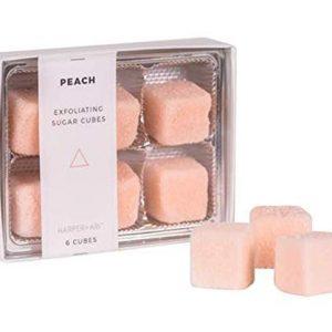 Peach exfoliating sugar cubes